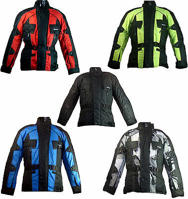 ROSSI WATERPROOF MOTORCYCLE MOTORBIKE JACKET BLACK RED BLUE CE ARMORS big  SIZES