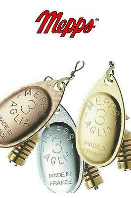 Mepps Aglia Spinner/Lure Sizes 0-4 Silver,Gold,Copper Colours Trout Perch Lure