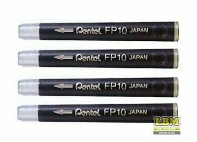 Pentel FP10 Brush Pen Cartridge Refills Black (pack of 4)
