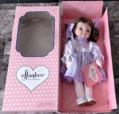 "1993 Effanbee Doll ""Little Miss Grow Up"" Age 4 - Brown Hair - In Box"