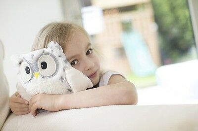 "Warmies Intelex 10"" Snowy Hooty Owl Microwavable Heatable Cozy Lavender Scented"