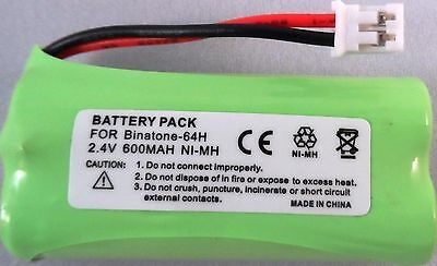 2SN-AAA55H-S-JP1 COMPATIBLE BATTERY 2.4V Ni-MH 64H