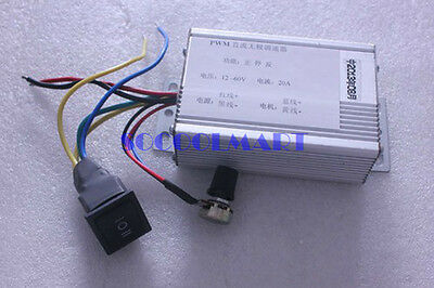 1Pcs 25W 24V 50rpm Direct Current Reduction Gear Motor w 20A Speed Governor