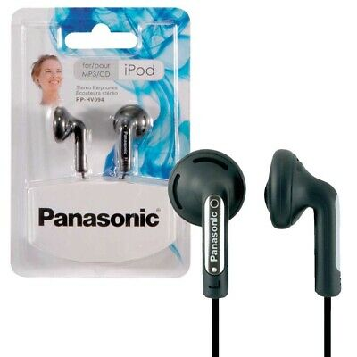Panasonic RP-HV094E-K In-Ear Stereo Earphones Headphones For iPhone/iPod/MP3 New