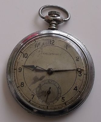 served Pocket Watches Very Rare Sisteme Glashutte Silver 0.800 Pocket Watch