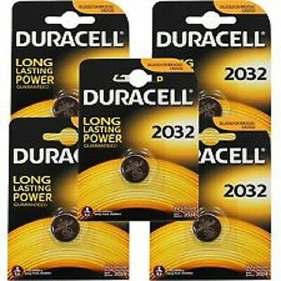5 x PILAS BATERIAS DURACELL CR2032 3V LITIO Lithium Coin Cell Battery 2032