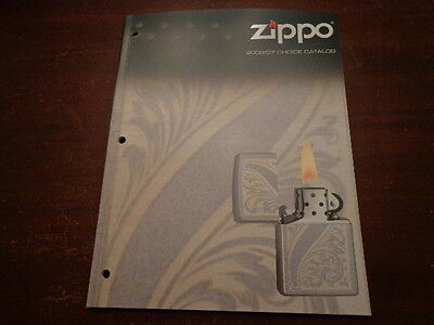 2006/07 Choice Zippo Lighter Catalog Unused