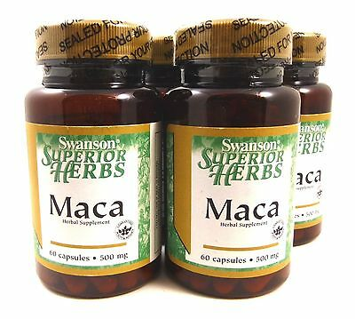 4X MACA ROOT Extract 500 mg 60 Caps Libido Performance Energy Men Women
