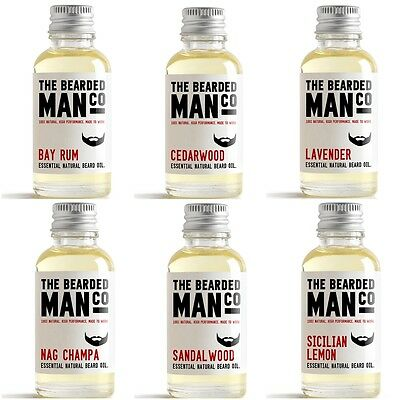 30ml LARGE The Bearded Man Co Beard Oil Conditioner Stops Itch Itching Mustache