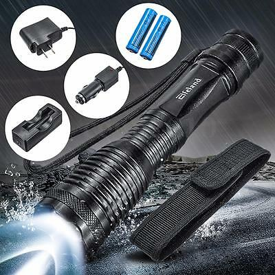 UltraFire 2000LM CREE XML T6 LED Zoomable Flashlight Torch + Battery + Charger
