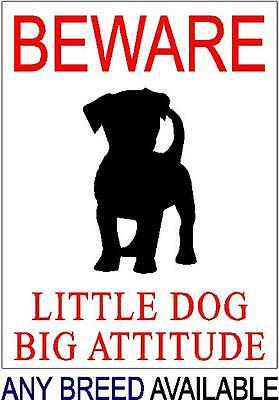 Warning Beware of the Dog - ANY BREED DOG PICTURE - Various Designs Available