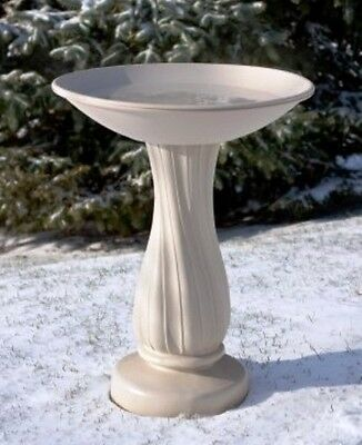 Heated Pedestal Bird Bath With Thermostat