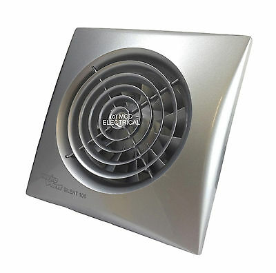 "Envirovent SIL100SS ""Silent"" Extractor Fan with Matt Chrome /Silver Finish"