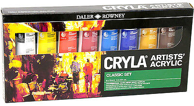 Daler Rowney Cryla Artists Colours Acrylic Introduction Set 10X22Ml Paint Tubes