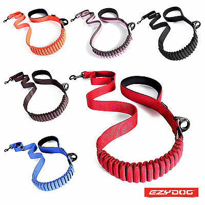 "EZYDOG ZERO SHOCK LEAD - 25""/48"" Innovative Shock Absorbing Dog Leash"