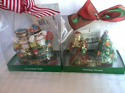 Fitz & Floyd Holiday Home Candles New in boxes Santas and Trees Soldiers