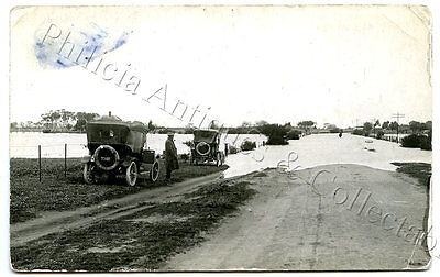 1917 RP POSTCARD FLOODED ROAD LANGHORNES CREEK SOUTH AUSTRALIA FLOOD YEAR c41.