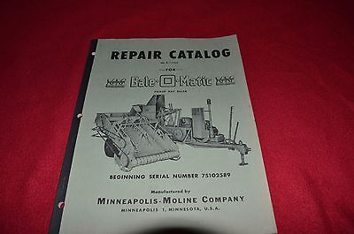 Minneapolis Moline Bale O Matic Pick Up Baler Dealer's Parts Book Manual SHPA
