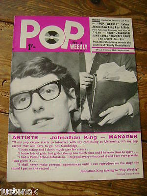 POP WEEKLY 4rd Year No. 4 JOHNATHAN KING WALKER BROTHERS DYLAN JANE ASHER CHER