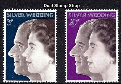 GB 1972 Royal Silver Wedding SG916-7 Complete Set Unmounted Mint