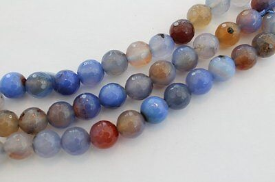Natural Agate Gemstone Beads round 10mm approx 38 beads Jewellery making