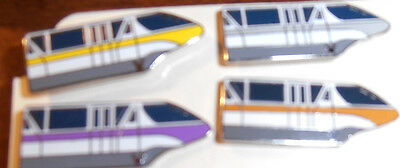 WDW Cast Lanyard Complete Set of  Monorail Series 4 Pin Pins