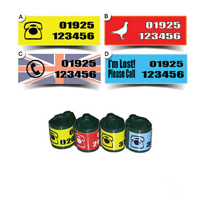 Racing Pigeon ETS Ring Phone Number Stickers Decals