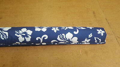 """Vitamin Blue 36"""" Roof Rack Pads - Non Logo Blue Floral (MADE in USA) AERO PADS"""