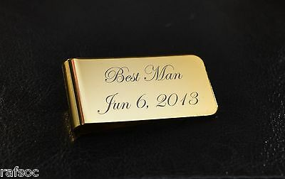 Metal Money Clip Personalized Custom Engraved Promotional Wedding Best Man