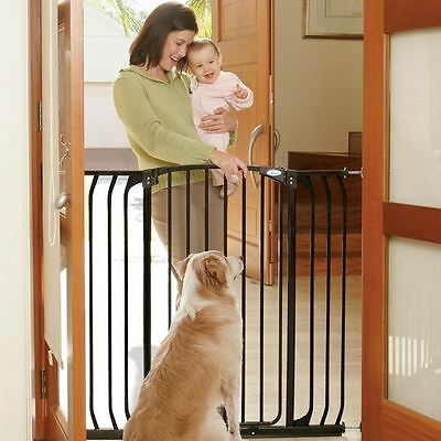 Dreambaby Extra Tall Hallway Swing Closed Baby Stair Gate + Extensions Set Black