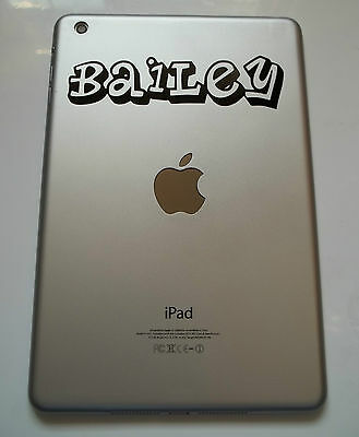 1 x Personalised Name Decal - Vinyl Sticker for iPad Air Planet Font Custom