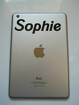 1 x Personalised Name Decal - Vinyl Sticker for iPad Air Barbed Font Custom