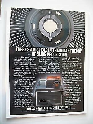 Bell & Howell Slide Cube System II Ad Laminated Sealed Advertisement Photography