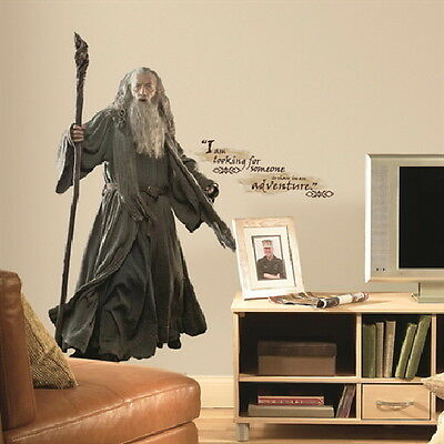 The Hobbit: An Unexpected Journey Gandalf Giant Wall Decal Sticker NEW SEALED