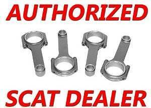 Honda/Acura SCAT H-Beam Connection Rods B18A1 B18B1 DOHC LS VTEC ARP 2000 Bolts
