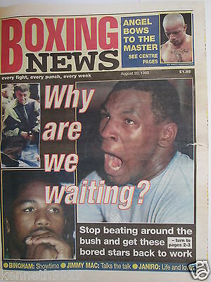 Boxing News 20 Aug 1999 Tyson Lewis Hamed Johnson - Manfredy Arturo Gatti,