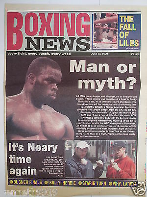 Boxing News 18 June 1999 Michael Grant Shea Neary Byron Mitchell v Frankie Liles