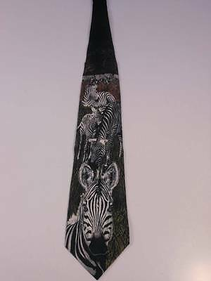 MEN'S NECK TIES ANIMALS ZEBRAS RM STYLE 100% SILK MADE IN THE USA  NWOT W230