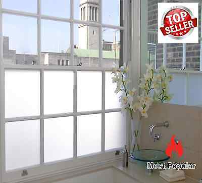 Frosted Window Film, Privacy White  Frost Etched Glass Sticky Back Plastic Vinyl