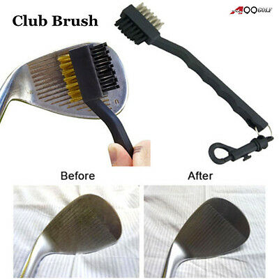 2pcs/pack A99 Golf Dual Two Sides Club Brush Cleaner & Snap Clip