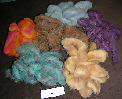 Wool Roving Lot of 6 Different Colors - Approx 2.7 oz - 12ft each color
