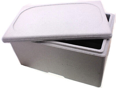 Thermobox EPS grau - 1/1 - 200 Isolierbox Warmhaltebox Transportbox Styroporbox