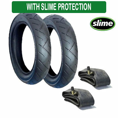 Set Of Tyres For Quinny Buzz Pushchairs With Slime Filled Tubes