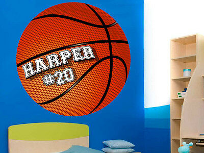 Personalized Basketballl Vinyl Wall Decal Sticker Custom Colors!