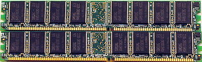 2GB (2 x 1GB) DDR 266 DIMM PC 2100 184 Pin CL2.5 Memory for Desktop Computers