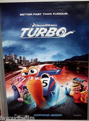 Cinema Poster: TURBO 2013 (Second One Sheet) Ryan Reynolds Paul Giamatti