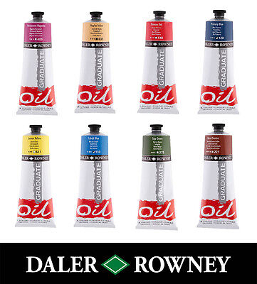 Daler Rowney Graduate Oil Artist Paint 200ml Tubes - 42 Colours Available