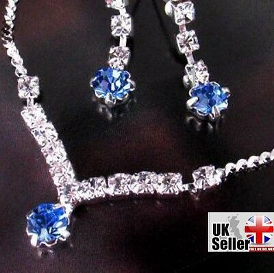 FREE GIFT/FAST FREE P+P  Rhinestone Earring + Necklace Set Jewellery
