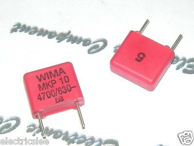 2000V 5/% pitch:22.5mm Capacitor 4pcs WIMA FKP1 4700P 4700PF 4.7nF