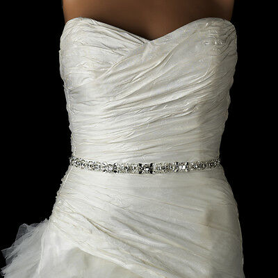Pearl, Rhinestone Crystal & Bugle Beaded Bridal Wedding Sash Belt White or Ivory